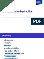 Presentation - Hydraulics 1 - Introduction to Hydraulics