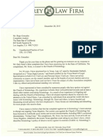 Ray Jeffrey Letter to CA Bar