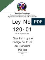 Código de Ética Del Servidor Público - Ley Nro. 120 (2001)