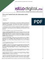 29-01-16 Power de Claudia Pavlovich, interesantes aristas - Hermosillo Digital