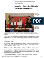 28-01-16 Gestiona Gobernadora Pavlovich 343 mdp en obras de seis municipios mineros - Canal Sonora