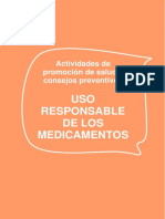 Folleto. Uso Responsable de Medicamentos