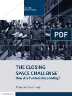 The Closing Space Challenge
