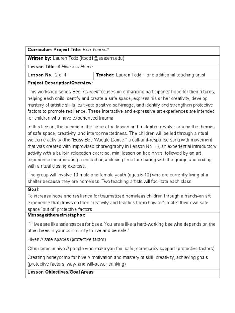ltodd - arts 535 - final skills lesson plan | Honey Bee | Beehive