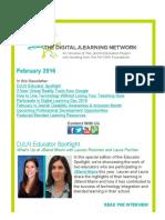 DJLN February 2016 Newsletter