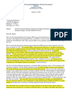 EPA comments on Walker Lake