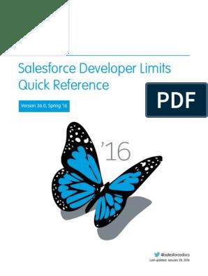 Salesforce App Limits Cheatsheet | Salesforce Com | Email