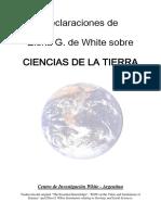 Declaraciones de Elena de White Sobre Ciencias de La Tierra