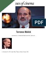 Terrence Malick | Senses of Cinema