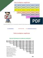 Tabla de Multiplicar Simplificada 1 Corregida