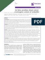 Estrogen Receptor-beta Sensitizes Breast Cancer