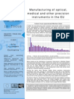 Manufacturing of optical, medical and other precision instruments in the EU