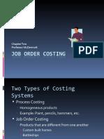 Job Order Costing