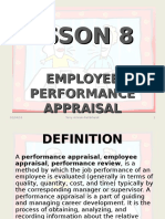 Lesson 8 - Performance Appraisal
