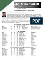 WSU Football Signing Class of 2016