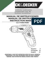 manual black&decker Pd400l Pd500c