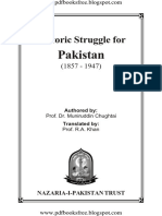 Historic Struggle for Pakistan 1857 1947