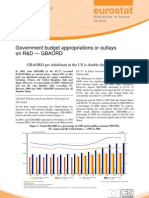 Eurostat - Statistics in focus 29/2008 - Government budget appropriations or outlays on R&D — GBAORD