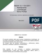ANSI-HI-12!1!12!6!2011 Presentacion Bombas de Pulpa