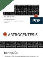 Artrocentesis y Líquido Sinovial