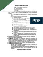 Fichas Técnicas de Pruebas de Evaluación