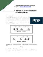 Física - Resumos Vestibular1 - MRUV