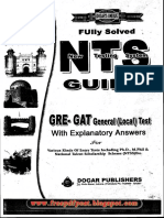 NTS GAT(General)GUIDE BOOK By DOGAR PUBLISHER pdf