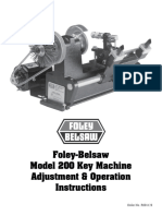 Foley Belsaw Model 200 Key Machine Manual