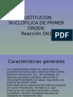 Sustitucion Nuclofilica de Primer Orden