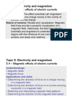 Topic 5.2.4 - Magnetic Effects of Electric Currents