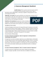 classroom management handbook short version