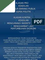 Kebijakan Distribusi Dan Anggaran
