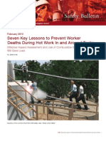 CSB - 7 Key Lessons to Prevent Worker Deaths During Hot Work in & Around Tanks