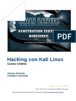 Kali Linux Guia Español