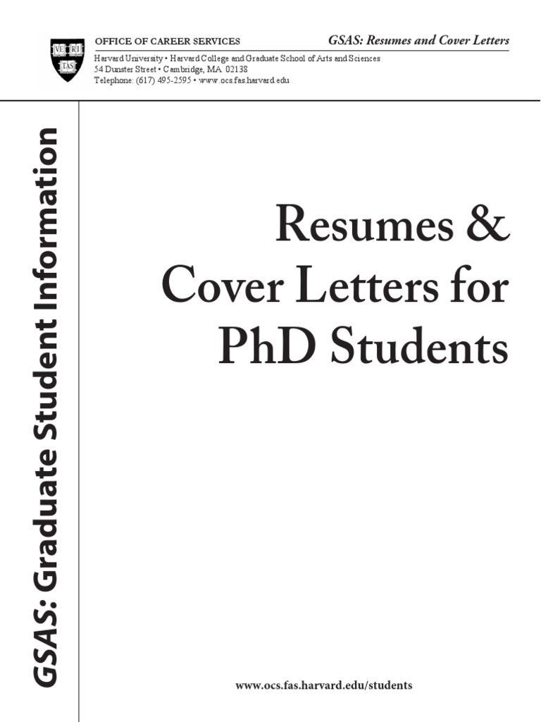 Harvard Examples Of Resume Pdf Resume Doctor Of Philosophy