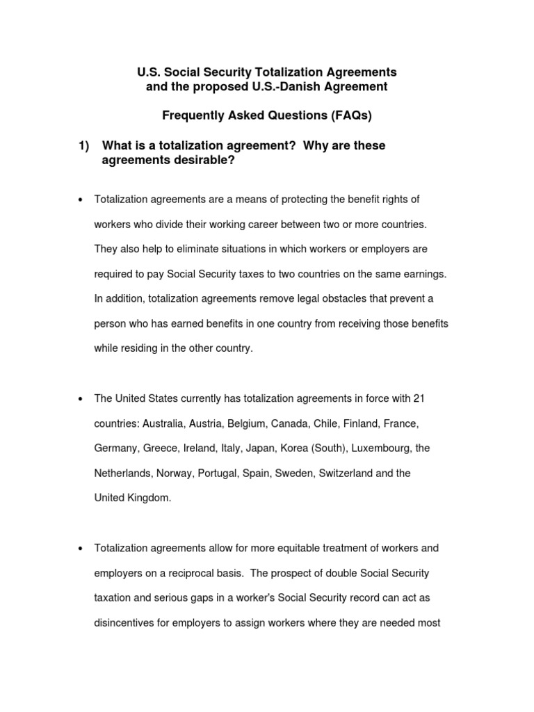 Totalization agreement faqs social security united states totalization agreement faqs social security united states medicare united states platinumwayz