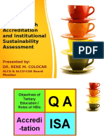 TQM Through Accreditation and Institutional Sustainability Assessment