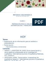 3 Sistematización y Transcripción
