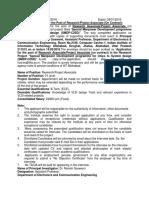 Notification IIIT Allahabad ResearchProject Associate Posts