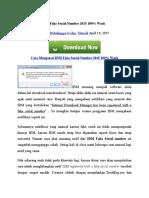 Cara Mengatasi IDM Fake Serial Number 2015 100