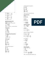 Pumps Formulas