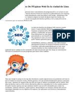 Empresa De Diseño De Páginas Web En la ciudad de Lima