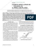 FINITE ELEMENT SIMULATION OF WELDING IN STEEL PIPES AND PLATES