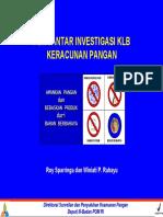 3 Pengantar Investigasi Klb Keracunan Pangan