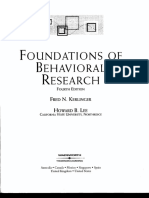 Kerlinger (2000) - Foundations - Validity
