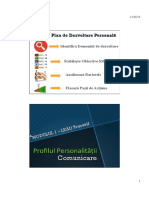 Profilul Personalitatii &  Comunicare