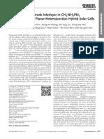 Nickel Oxide Electrode Interlayer in CH3NH3PbI3 PerovskitePCBM Planar-Heterojunction Hybrid Solar Cells
