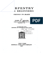 Carpentry for Beginners by John D. Adams (1917)