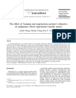 The effect of framing and negotiation partners objective on judgments about negotiated