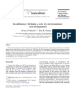 Ecoefficiency Defining a role for environmental cost management